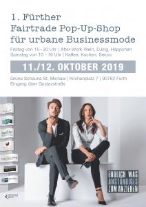 Plakat  Pop-Up-Shop für urbane Businessmode