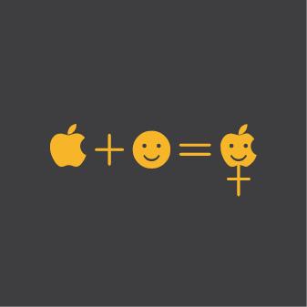 Apfel und Smiley