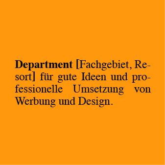 Definition Department